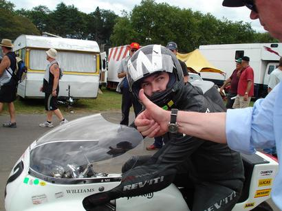 aboard Mike Braid's '73 Monocoque at Cadwell Park